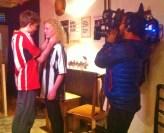 David Jackson & Brogan Gilbert perform a scene for camera