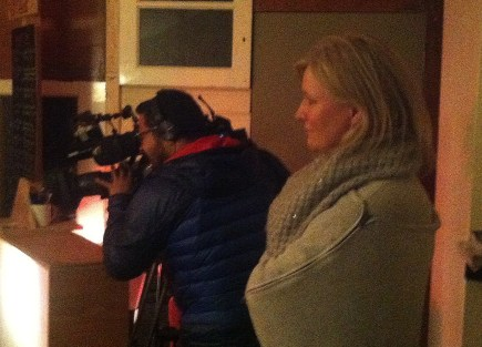 Look North reporter Dawn Thewlis watches a rehearsal in progress