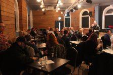 The audience enjoying the night