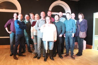 Everyone who took part in the evening