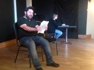 David Foster and Beth O'Doherty rehearsing Radio Blah Blah